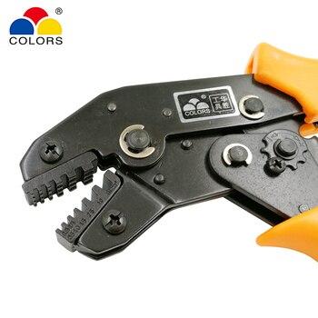 צבעים SN-06WF 0.25-6mm2 24-10AWG Crimping צבת אירופאי סגנון עבור צינור מסוף קלאמפ עצמי התאמת יד כלים