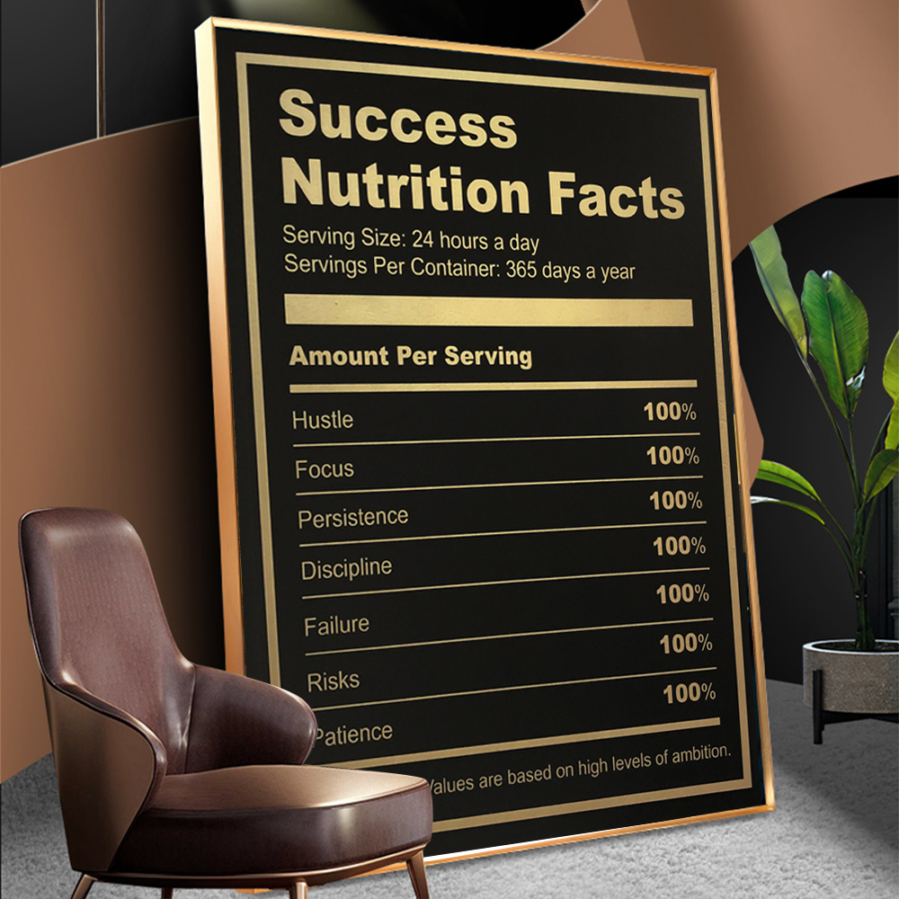 WANGART Canvas Poster Wall Art Ingredients For Success Motivational Quote Art Poster Print Wall Picture For Living Room No Frame
