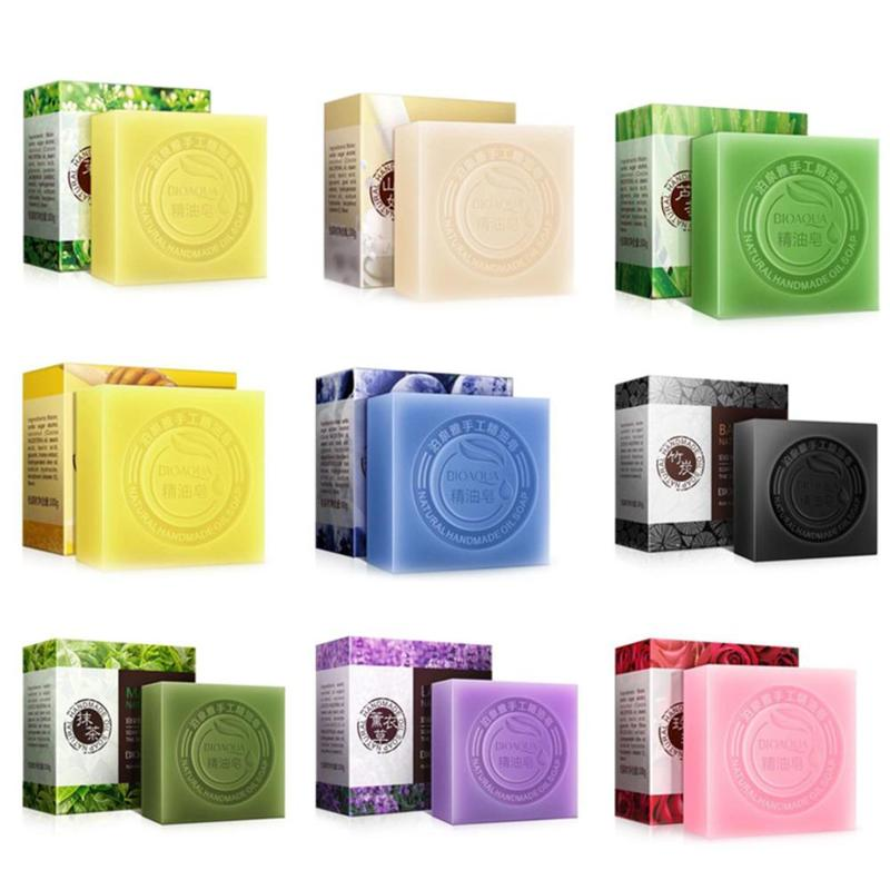 Natural Organic Herbal Essential Oil Soap Whitening Handmade Soap Skin Remove Acne Deep Cleansing Face Bath Bactericidal Soap