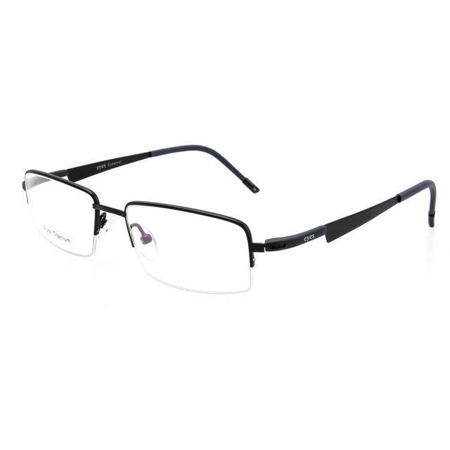 De propósito geral homens e mulheres meia armação de óculos óptica óculos de personalidade da moda pure titanium óculos quadro de luz durável