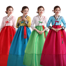 цены Asian National Dance Costume Hanbok Dress Traditional Wedding Korean Hanbok for Women Stage Cosplay Performance Clothing
