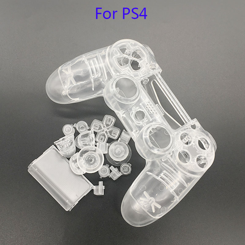 цена на Transparent Replacement Housing Front Shell Part Controller Protector for PlayStation 4 PS4 Controller