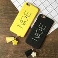 Sorriso bonito rígido pc phone case capa para os amantes para iphone 6,6 s, 6 plus, 6 splus, 7,7 além de luxo presentes de natal para os amigos