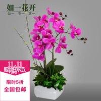 Искусственный цветок набор фаленопсис высокое украшение из шелка бонсай из цветов пластиковые искусственные цветы комбинезон