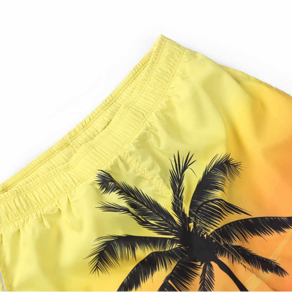 男性の夏カジュアルプラスサイズ熱帯ハワイヤシ 3D プリントビーチショーツパンツ 2019 ホット販売水泳のための男性水着