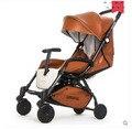 AULONStrollers может сидеть лежать легкий портативный складной ребенок четыре летних и зимних карман зонтик коляска бесплатная доставка