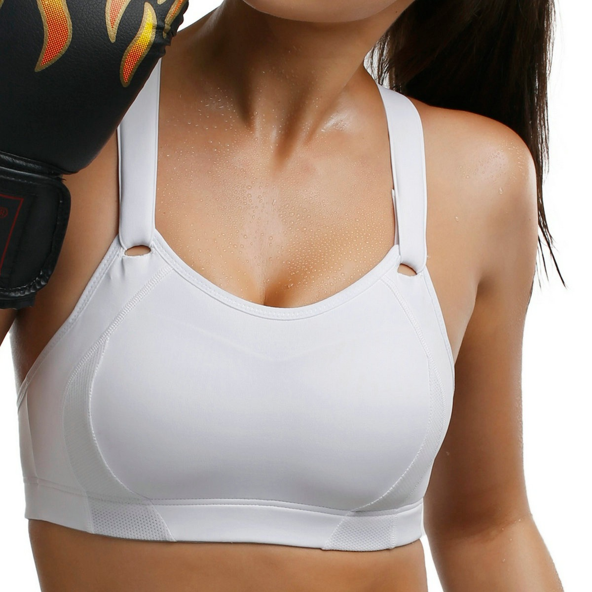 3b9b2d7c7 New Women s High Impact Ultra Supportive Full Coverage Racerback Active Bra  Big Size 32-42 B C D DD E