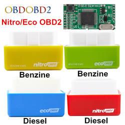 4 цвета Nitro OBD2 EcoOBD2 ЭБУ чип тюнинг коробка Plug & драйвер NitroOBD2 эко OBD2 для бензина Diesel Car 15% экономия топлива более Мощность