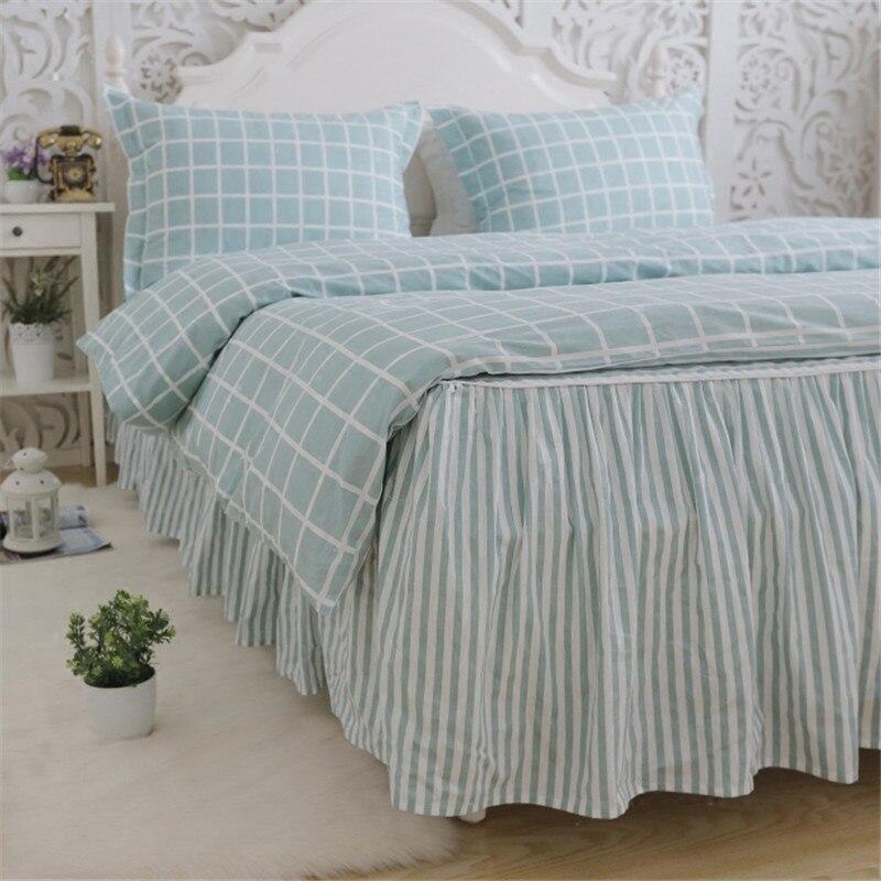 Plaid classico set di biancheria da letto luce bel plaid copripiumino casa letto tessile lenzuolo della banda della principessa gonna letto copriletto lino - 4