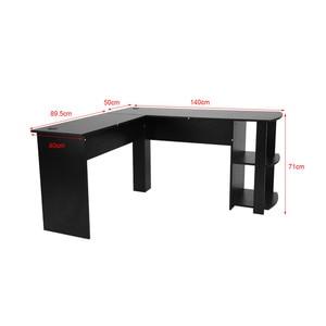 Image 5 - Máy tính Để Bàn Gỗ Văn Phòng Máy Tính Bàn Viết Nhà Chơi Game Furnitur L Hình Góc dùng Máy Tính Bàn Với Quyển Sách kệ