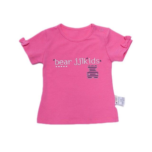 Девочки с коротким рукавом майка бренд 100% хлопок новорожденный одежда дети майка детские наряды новорожденных 2015
