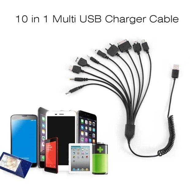 10 in 1 범용 휴대용 경량 멀티 기능 USB 충전 충전 케이블 대부분의 브랜드 전화와 호환 가능