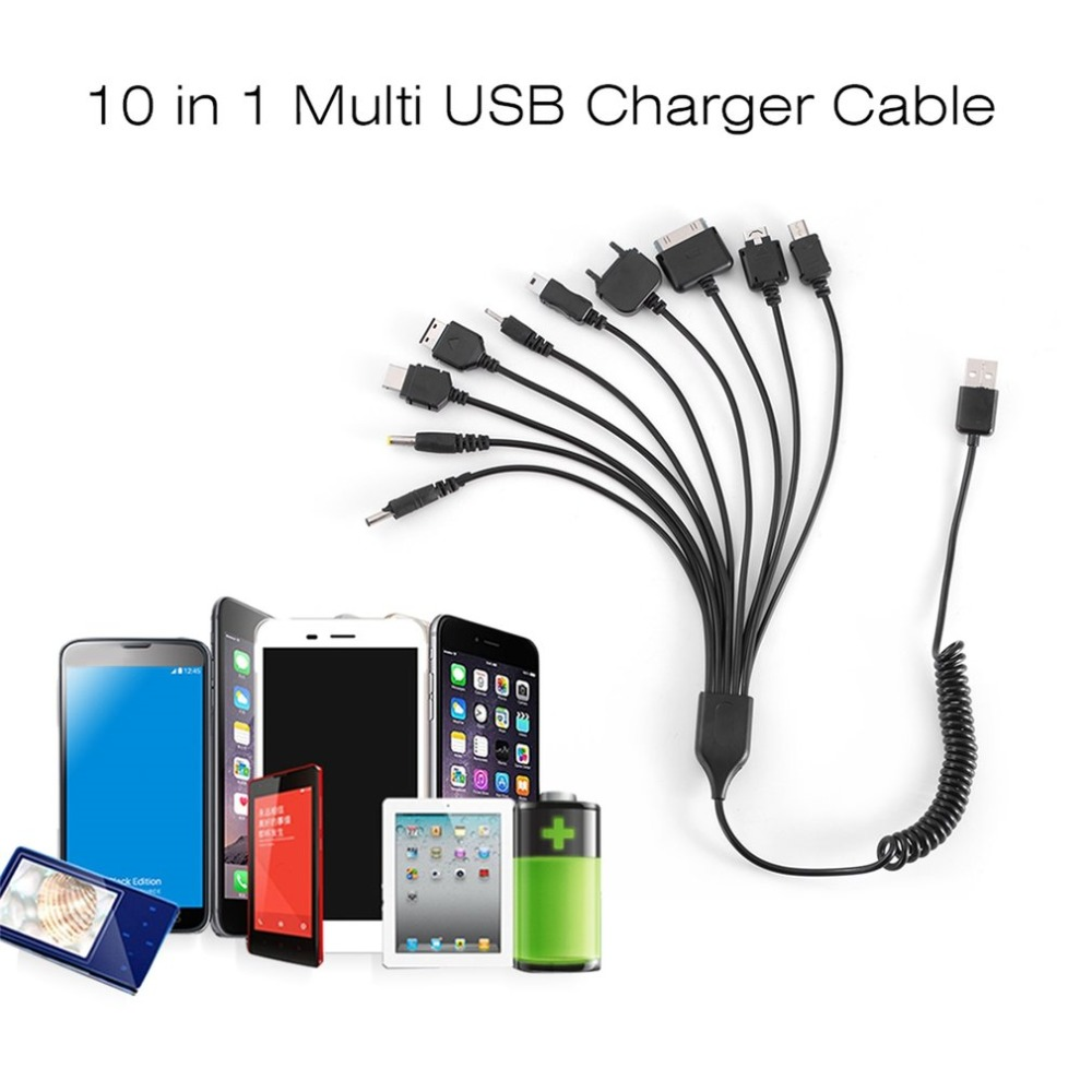 10 in 1 Universal Portable Lightweight Multi Functions USB Charge Charging Cable Compatible with Most Brands Phones-in Data Cables from Consumer Electronics