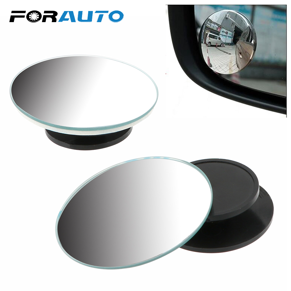 2Pcs/Set Car RearView Mirror For Car Vehicle Side Blindspot Blind Spot with 3M Tape Convex Mirror Small Round 360 Wide Angle
