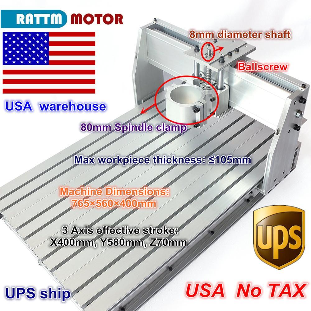 Из США/бесплатная доставка 6040 Фрезерный станок с ЧПУ гравер гравировальный фрезерный станок набор кадров винт 80 мм Алюминиевый зажим для DIY ...