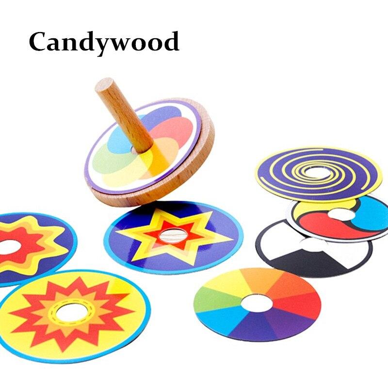 Ahşap Oyuncak Komik Renkli 8 Çizim Kartları ile Beyblade Oyuncak Topaç Klasik Oyunu Oyuncak Çocuklar için Çocuk