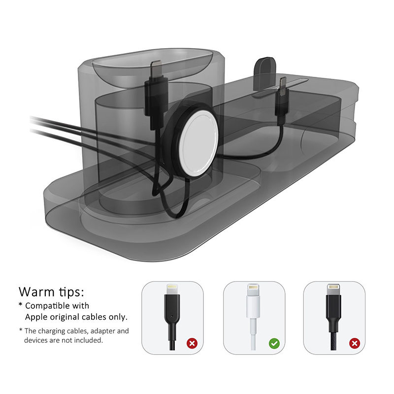 3 in 1 Charging Dock Holder For Iphone X Iphone 8 Iphone 7 Iphone 6 Silicone charging stand Dock Station For Apple watch Airpods (5)