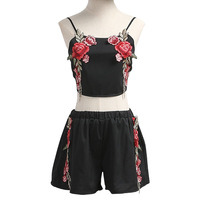 DevenGee-Sexy-Summer-Beach-Two-Piece-Set-Women-Floral-Embroidery-Vintage-Crop-Top-Shorts-Skirt-Set-White-Black-2-Piece-Outfits-2