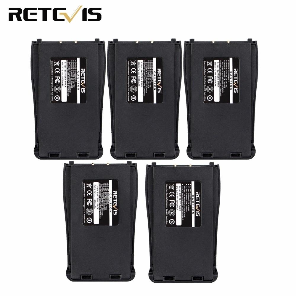 5 pz Originale 1000 mAh Li-Ion 3.7 V Per Walkie Talkie Retevis H777 H-777 Baofeng bf-888 S Bf-