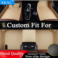 RKAC Car Floor Mats for Mitsubishi Pajero Montero V73 V77 V93 Customized Foot Rugs 3D Auto Carpets Custom made Specially