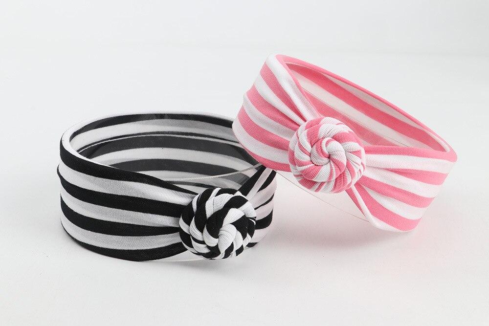 Yundfly Girls Cotton Knot Headbands Children Hair Accessories Turban Headbands Kids Tie Head Band Summer Bandeau Bebe