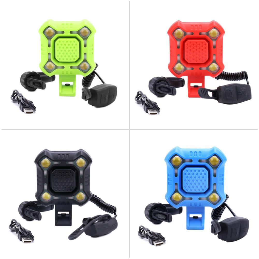 2-in-1 Bicycle Bell Electric Loud Horn Light Headlight Bike Cycling Handlebar Alarm Ring Cycling Multifunction Ultra Bright Bell