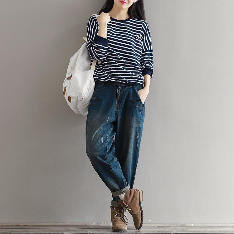 17 Winter Big Size Jeans Women Harem Pants Casual Trousers Denim Pants Fashion Loose Vaqueros Vintage Harem Boyfriend Jeans 13