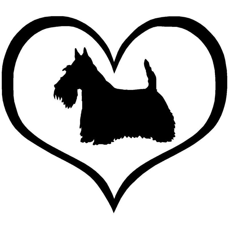 10.9*9.5 CM Scottish Terrier Perro Etiqueta Engomada Del Coche de La Manera Del