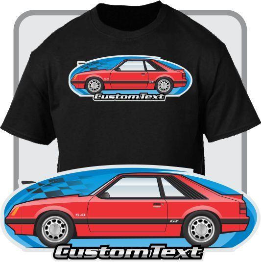 2018 New Arrival Men'S Fashion Custom Car Art T-Shirt 79-86 Gt Lx Svo Mustang Hatchback Not Affiliated W American Classic Car