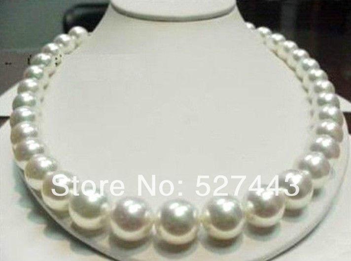 Livraison gratuite en gros>> détails sur 11-12mm 18 pouces AAA naturel blanc mer du sud collier de perles 14KGP fermoir