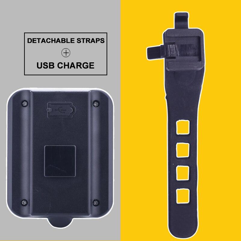 USB վերալիցքավորվող LED հեծանիվ հեծանիվ - Հեծանվավազք - Լուսանկար 5