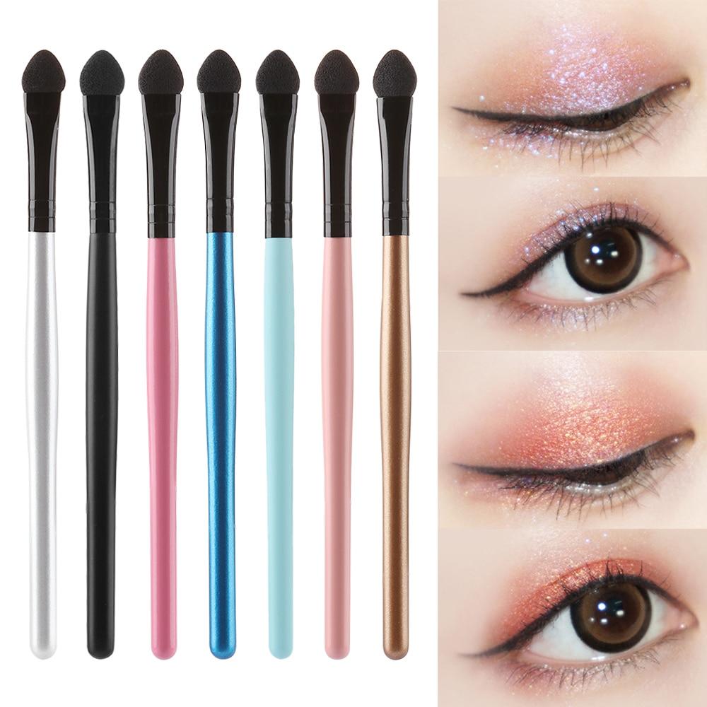 1/5Pcs Portable Eye Shadow Eyeliner Eyebrow Lip Brush Eyeshadow Sponge Brush Stick Applicator Eyes Makeup Cosmetic Tool Sponge