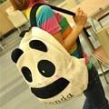 The new winter 2016 cartoon cute plush panda backpack Fashion double back female bag