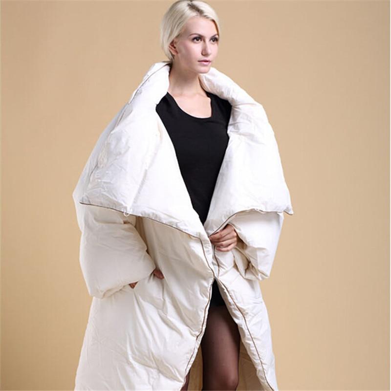 Femmes Long Ultra Manteau La White Thermique Personnalité De 2018 Tendance black Épaississement Vêtements Down Paragraphe Édredon D'hiver Veste gZd5nwq