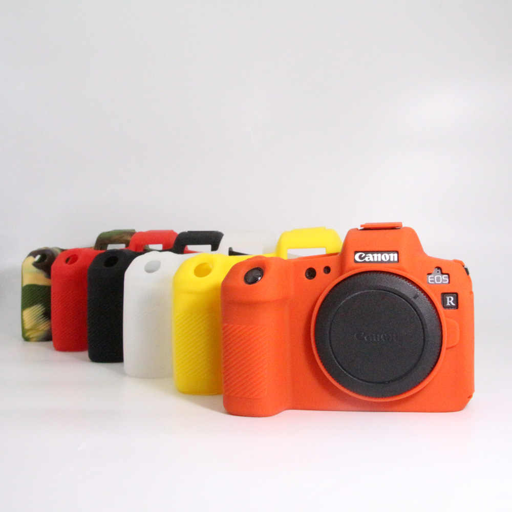 Silicone Camera Case For Canon EOS 200D R 3000D 5D4 1300D 77D 80D 7D2 5D3 5DS 5DR 600D 650D 6D2 EOSM3 G7XMarkII Soft Skin Capa