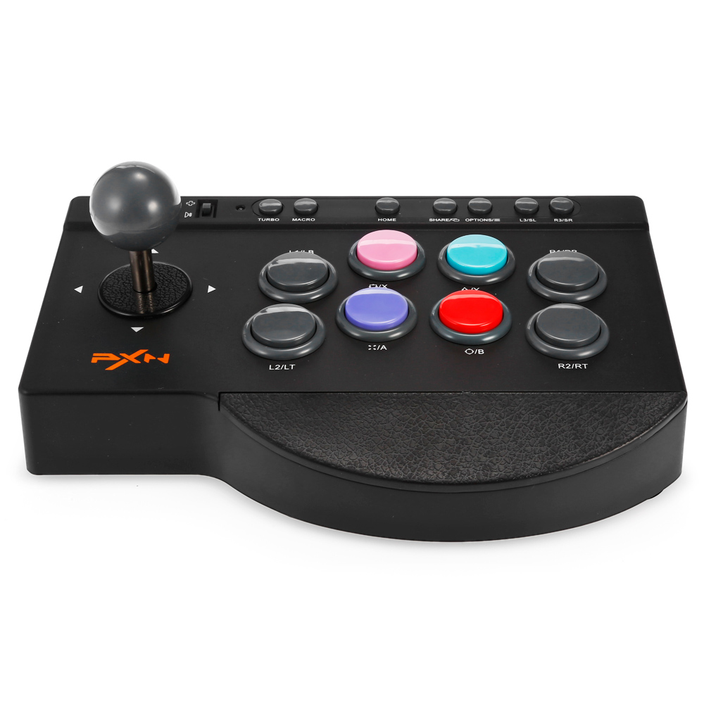 PXN-0082 Arcade Joystick Gaming Controller Game Rocker Wired Gampad Handle Controller Fightstick Game for PC/PS4/PS3/XBOX ONE pxn 0082 game joystick gaming controllers 8 buttons game rocker lever joystick gampad handle controller for ps4 ps3 xbox one