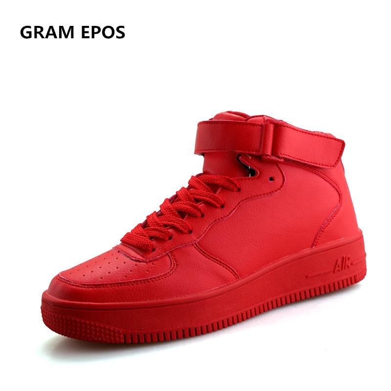 GRAN EPOS Men Casual Shoes Top Quality Men High Top Shoes Fashion Breathable Hip Hop Shoes Men Red Black White chaussure homme