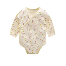 New child Printed Lengthy-sleeved Romper Cotton Child Triangle Garments Cotton Child Clothes
