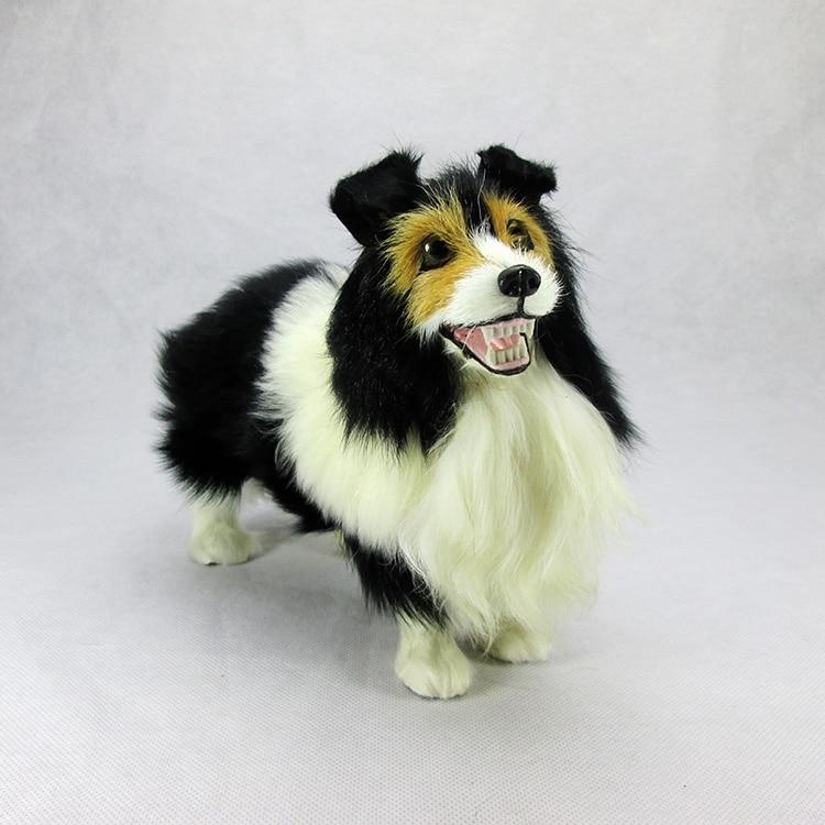 new cute simulation dog toy lifelike samoyed dog doll gift about 22x9x18cm new simulation sleeping dog plastic&fur black&white dog model gift about 36x25x14cm a81