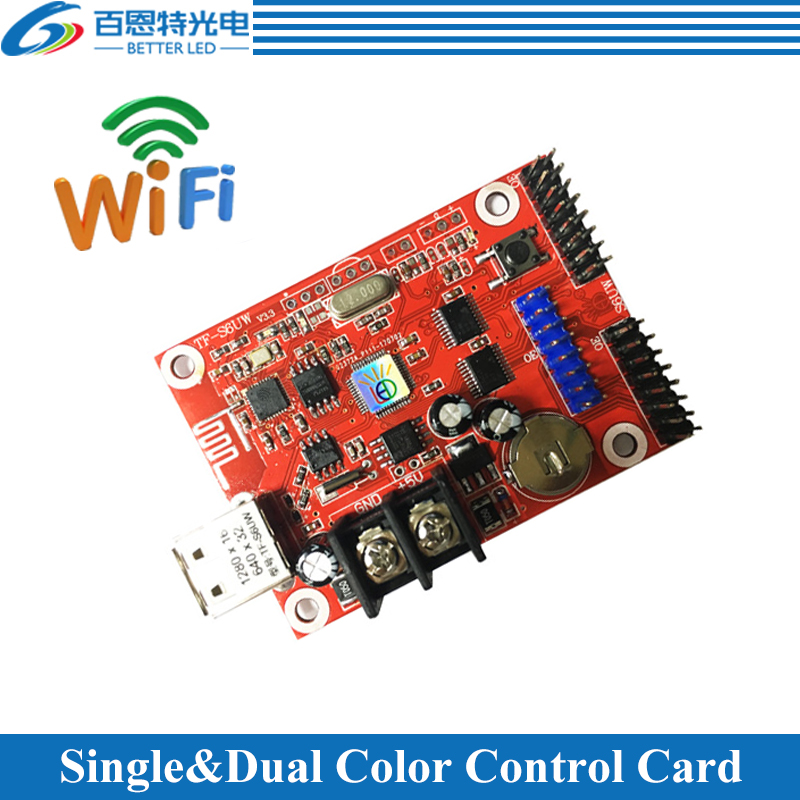 TF-S6UW0 Single And Dual Color LED Display Control Card, WIFI + USB Communication Controller