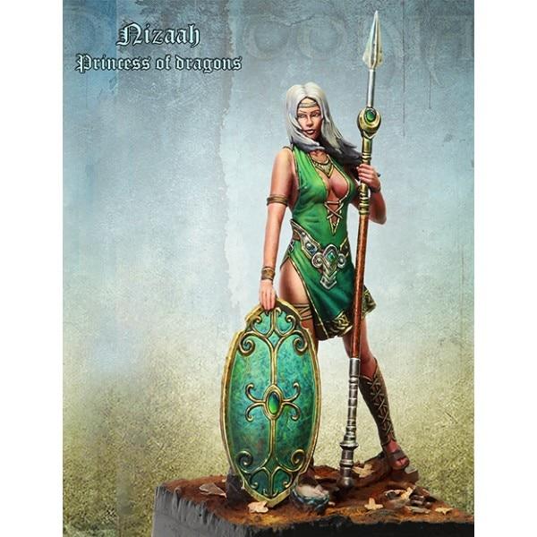 1//24 Scale Resin Figures Model Kit The Fantasy Warrior Unpainted Unassembled Kit