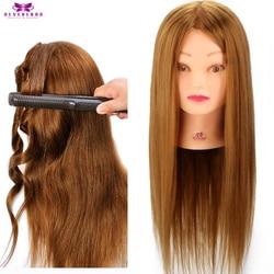 Neverland 90% pelo humano Real entrenamiento maniquí cabeza cosmetología rizador peluquería cabezas de muñeca + soporte
