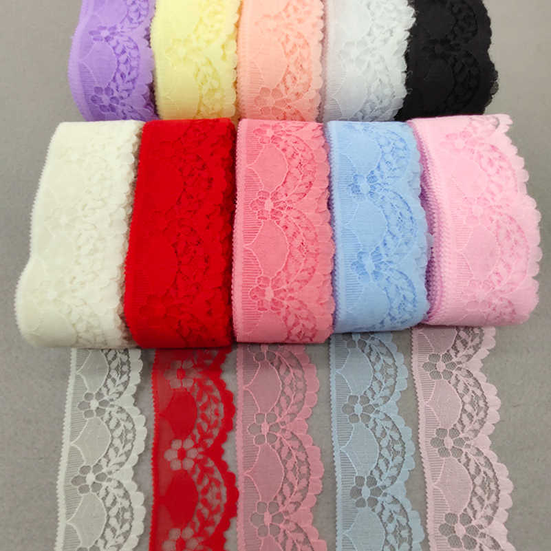 10 Yards Embroidered Net Floral Lace Trim Ribbon 4cm Wide For Sewing Decoration