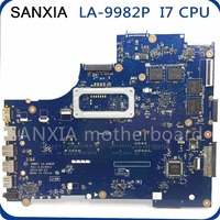 SHELI LA 9982P Laptop motherboard for Dell 5537 3537 Notebook computer Tested original mainboard I7 4500U 2GB graphics card