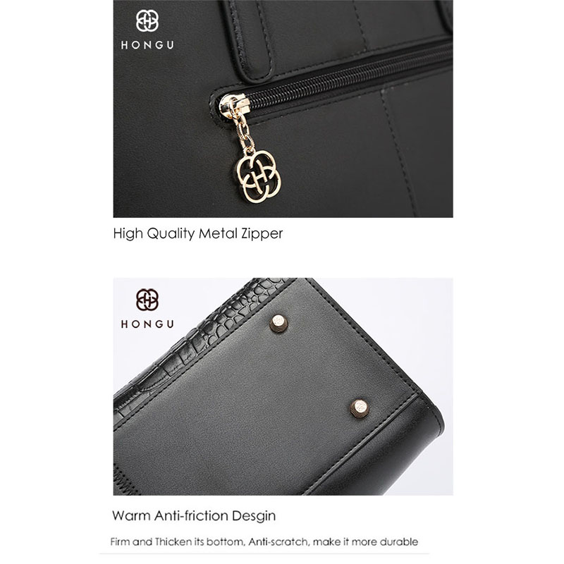89846cf091 HONGU Luxury Europe Genuine Cow Leather Women Handbags Fashion Crocodile  Female Messenger Crossbody Shoulder Bags Chain Handbag-in Shoulder Bags  from ...