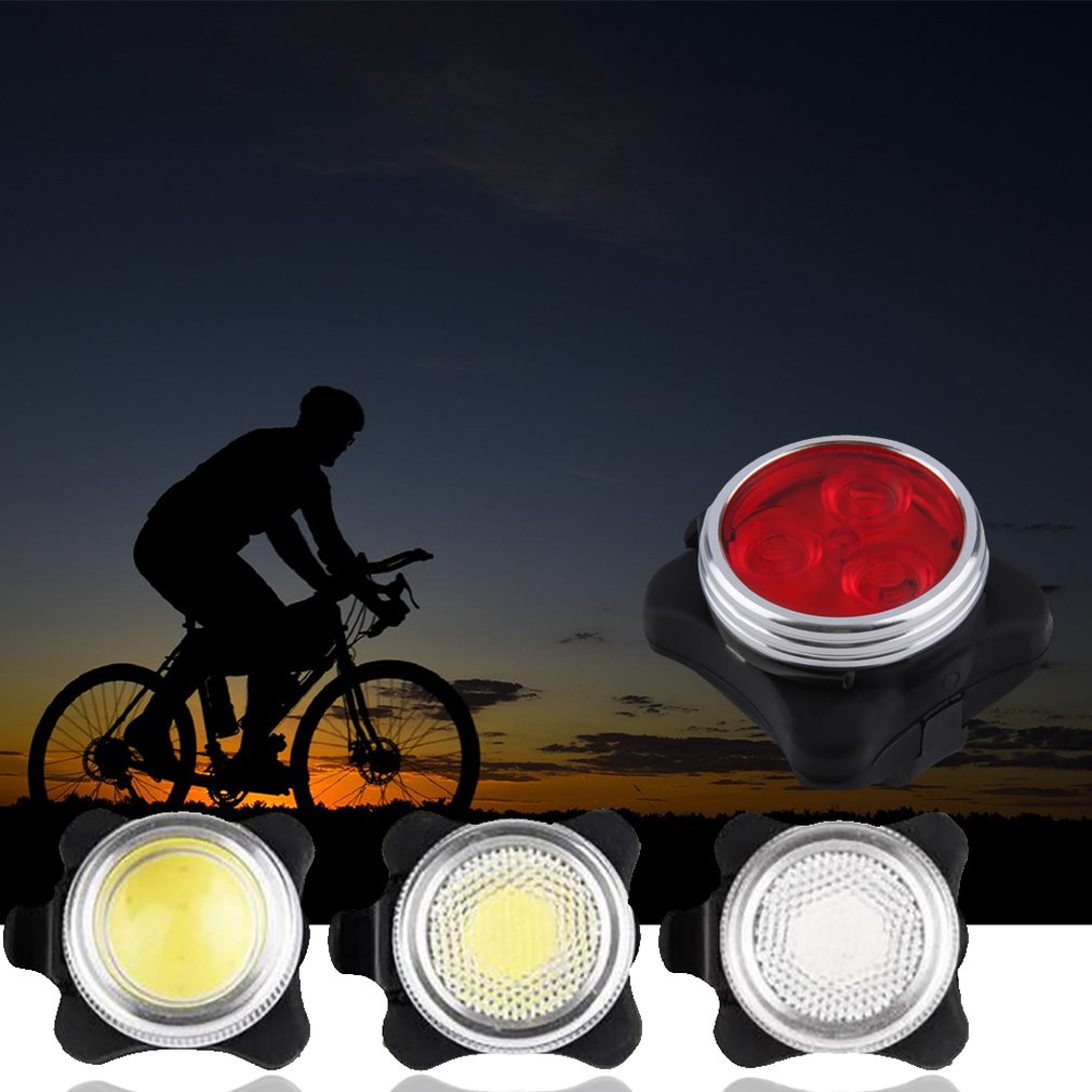 USB Design Warning Light Bike Bicycle Night Safety Light LED Waterproof Front Rear Tail Lamp Cycling Accessories(China)