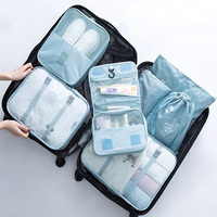 7PCS/Set Travel Organizer Bags For Clothing Packing Organizers Transparent Mesh Bags Suitcase Luggage Bag In Bag Dropshipping