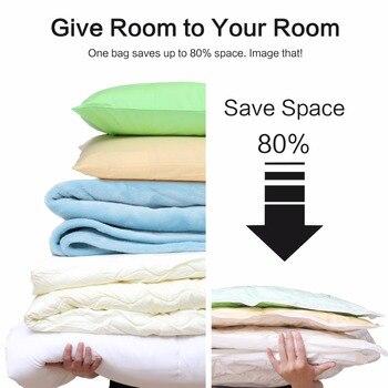 7 Teile/satz Vakuum Taschen Für Kleidung Mit Reise Vakuum Pumpe Spart Raum Unter Bett Lagerung Tasche Organizador Sac Rangement Vetement