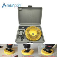 Mainpoint 8Pcs YELLOW DIY Woodworking Hole Saw Drill Bit Kit 64 127mm Cutting Wood PVC