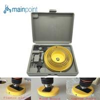 Mainpoint 8Pcs YELLOW DIY Woodworking Hole Saw Drill Bit Kit 64 127mm Cutting Wood PVC